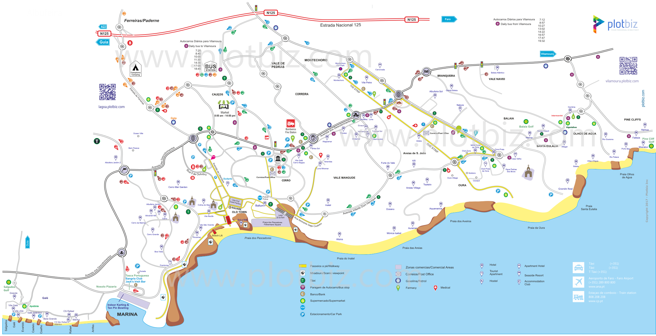 Map Of Albufeira Albufeira   Plotbiz Maps & Info